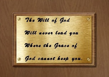 The Will of God_plaque